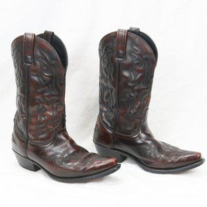 Laredo Brown Leather Cowboy Western Boots 8.5M